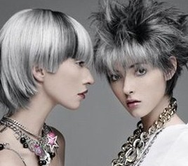 granny gray trend hair dyed silver
