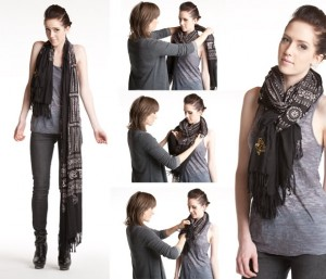 DIFFERENT WAYS TO TIE YOUR SCARF
