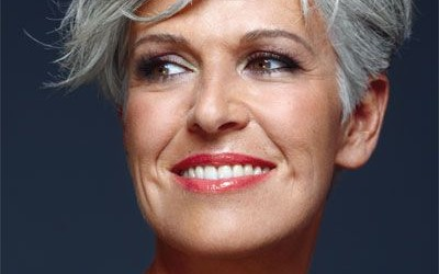 trendy gray hairstyles over 50