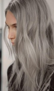 long beautiful gray hair