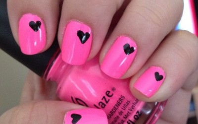 THINK PINK NAIL ART DESIGN