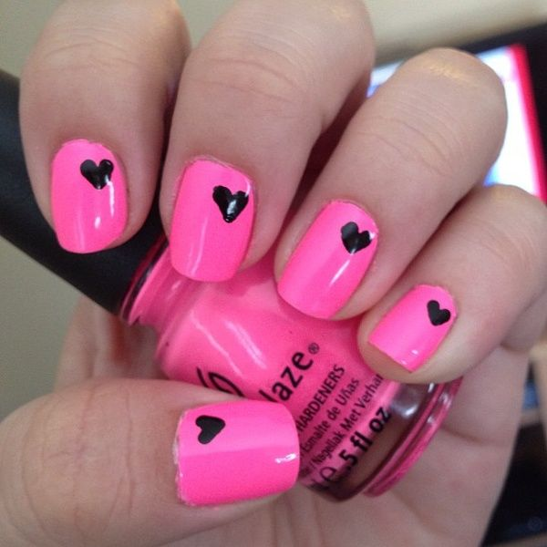 THINK PINK NAIL ART DESIGN - THINK PINK For SPRING Nail Art Designs - WEHOTFLASH