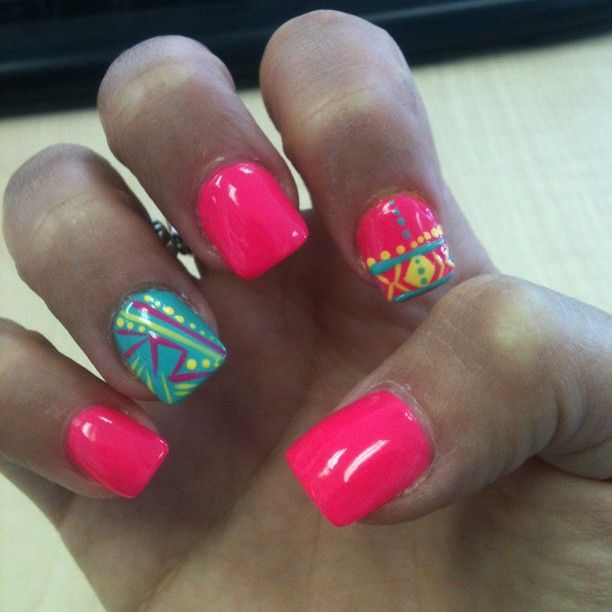 Think Pink For Spring Nail Art Designs Wehotflash