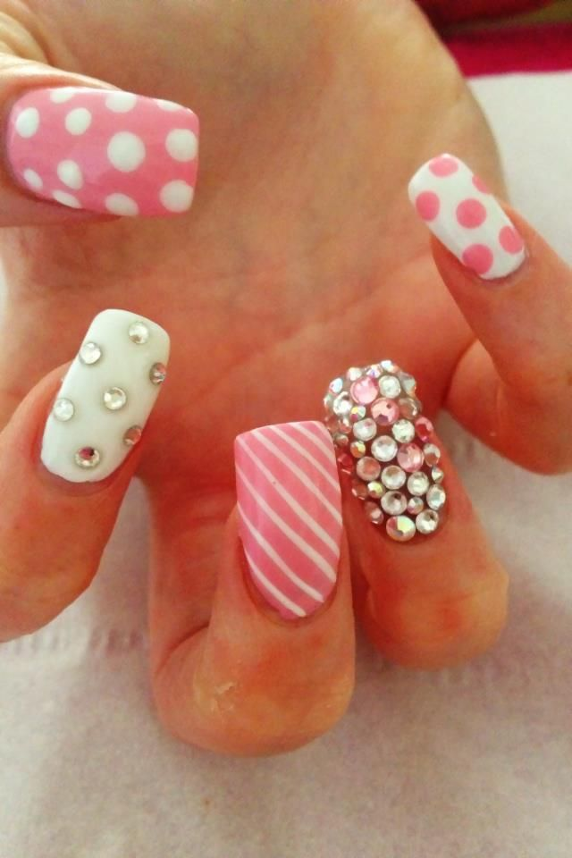 Bling archives wehotflash manicure pedicure think pink for spring prinsesfo Images