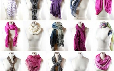 how to wear a fashion scarf