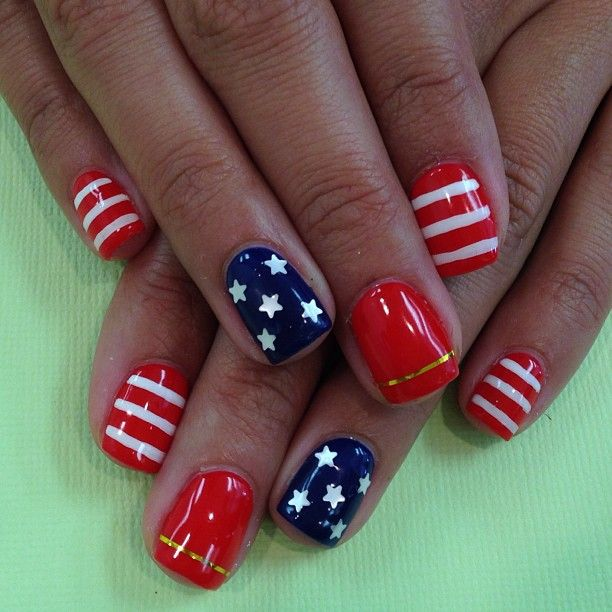 red white and blue nail art designs - Red White And Blue Nail Art Designs -WEHOTFLASH