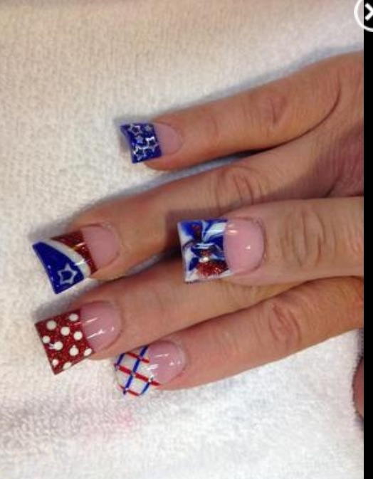 Red White And Blue Nail Art Designs Wehotflash