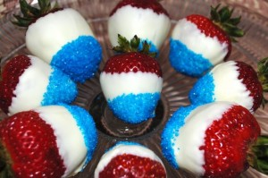 JULY 4 easy chocolate dipped strawberries