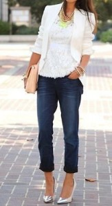 a white top with denim jeans a great look
