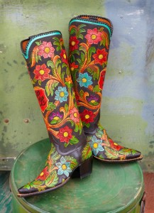 painted western boots